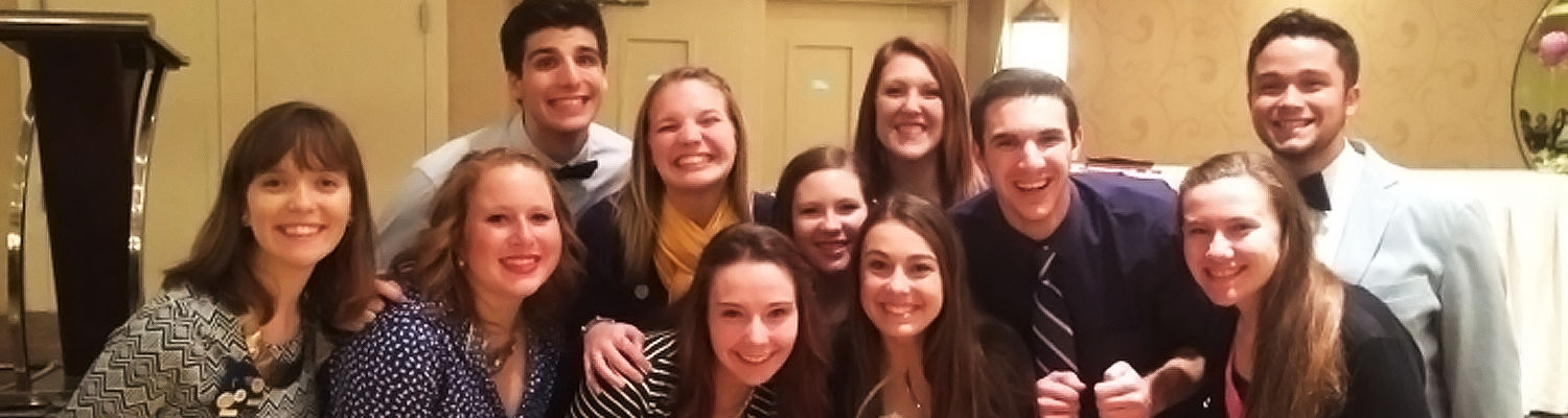 Student Leaders at the CAACURH Conference