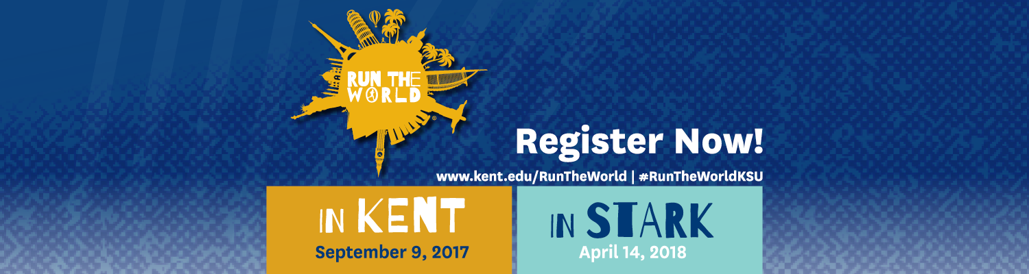 Register now for Run the World; Sept 9th, 2017 in Kent & April 14th, 2018 on Stark Campus