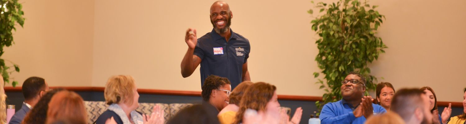 gregory king waves and smiles at udac retreat