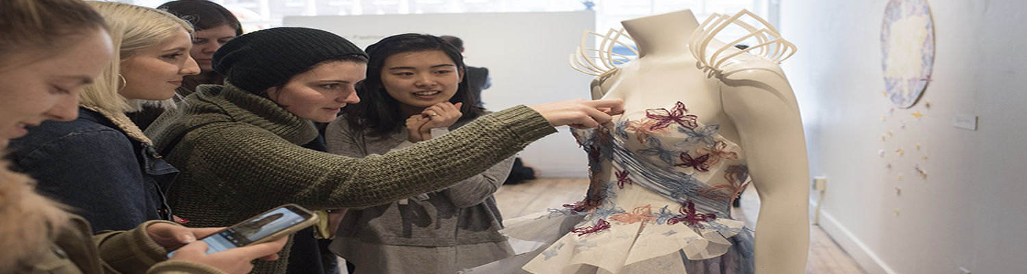 Fashion Students in Gallery