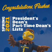 Congratulations, Flashes! Prersident's, Dean's and Part-time Dean's Lists