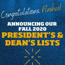 President's and Dean's lists for Fall 2020 Square