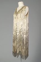 Beaded and fringed flapper dress