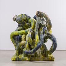 """Matt Wedel, """"flower tree"""", Ceramic, 77""""x74""""x69"""", 2015"""