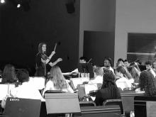 Kate Wyatt (MM '19) Directing Orchestra