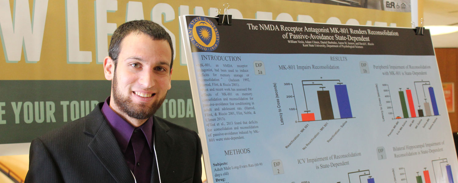 Psychology undergraduate student presenting at the 2nd Annual Undergraduate Research Symposium