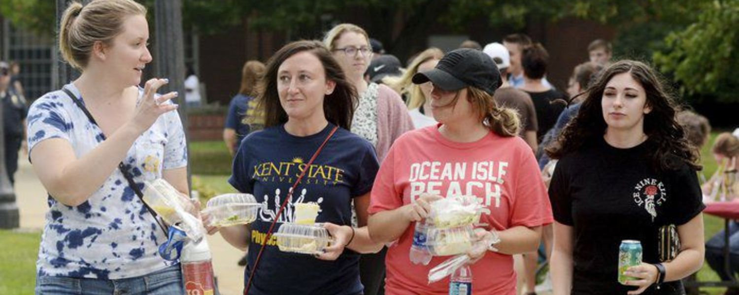 Kent State Ashtabula Students during Welcome Back Days (Courtesy The Star Beacon, Aug. 27, 2018)