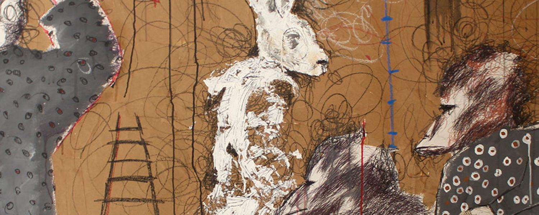 Artwork: Ibrahima Dieye (b. 1988, Dakar) Horror District, 2018