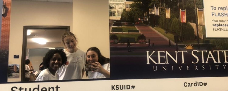 Group selfie in the KSU ID