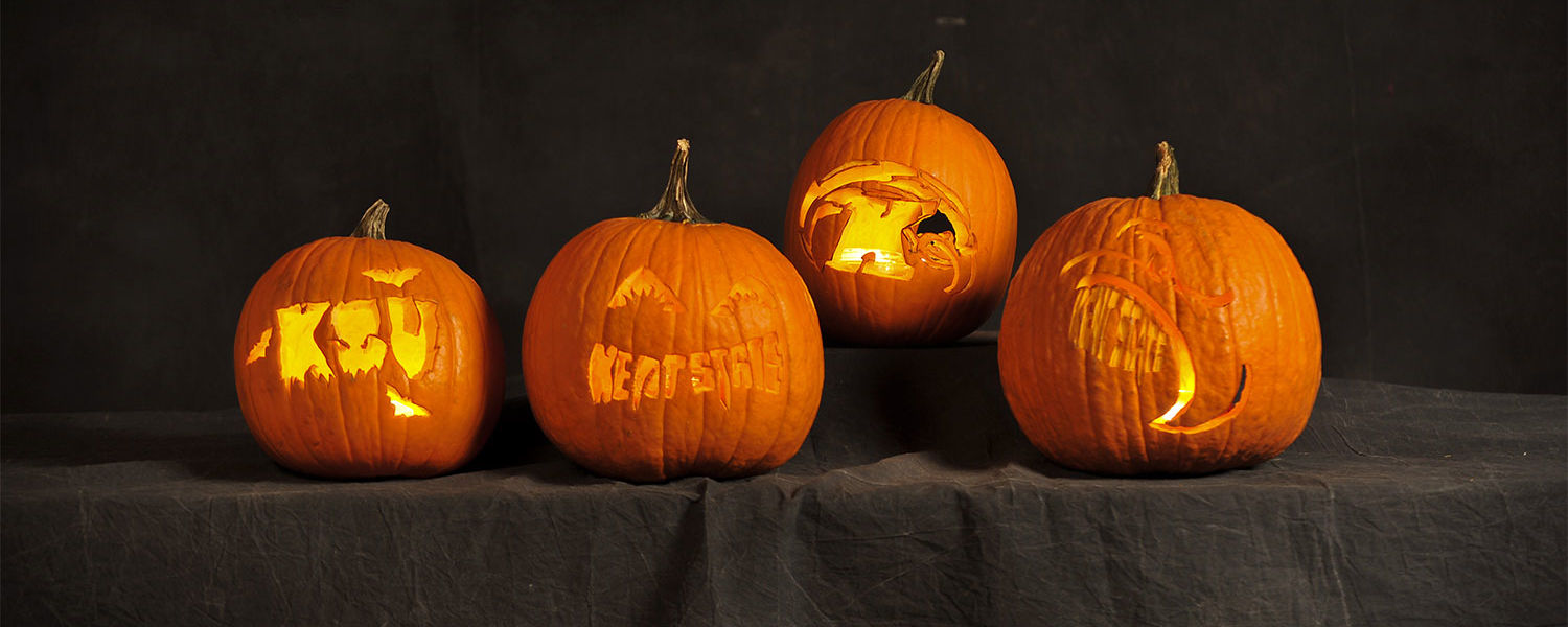 Celebrate Halloween with Kent State-themed pumpkin carving stencils.