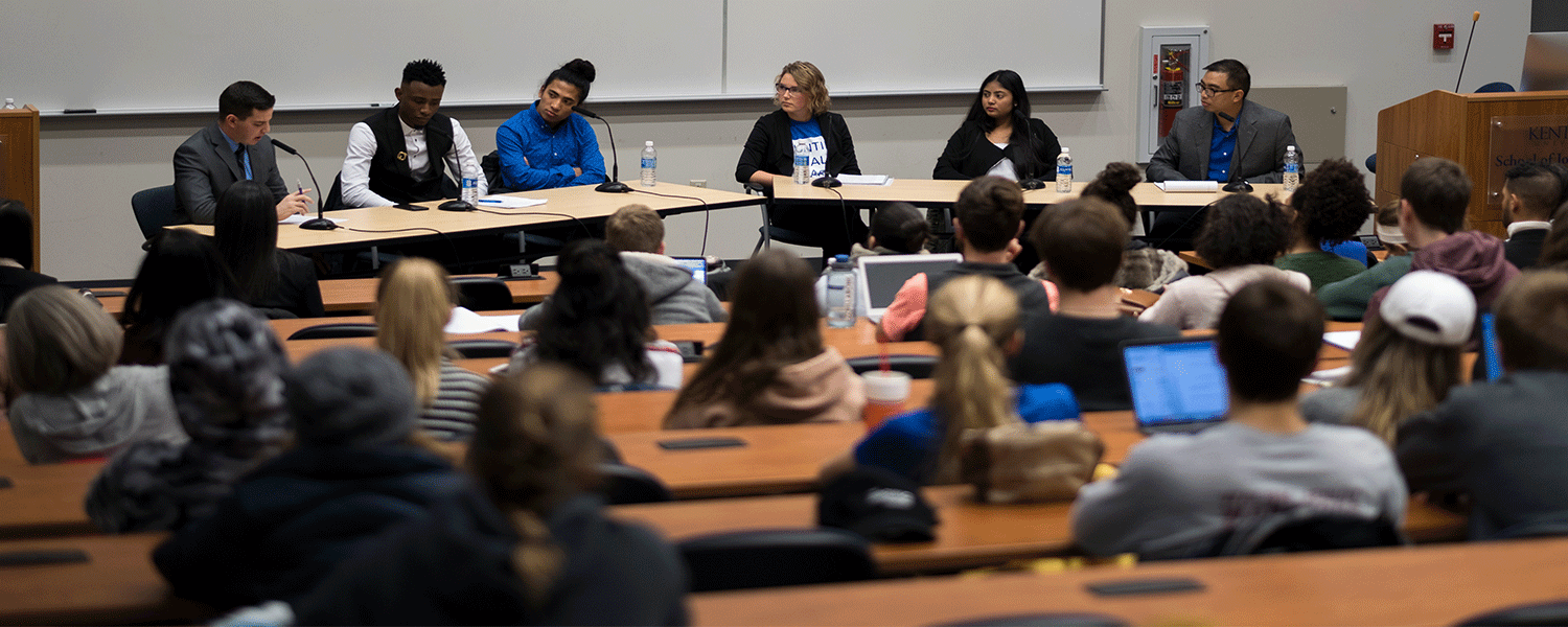"""Panelists discussed how the global refugee crisis impacts Kent State students and people around the world at """"Redefining 'Refugee': Stories from a Global Crisis."""""""