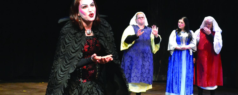 "Bobbi Jo Killing (far left), Tiffany Mulloy, Lexa Miller and Pamela Beish from the 2013 production of ""Snow White."""