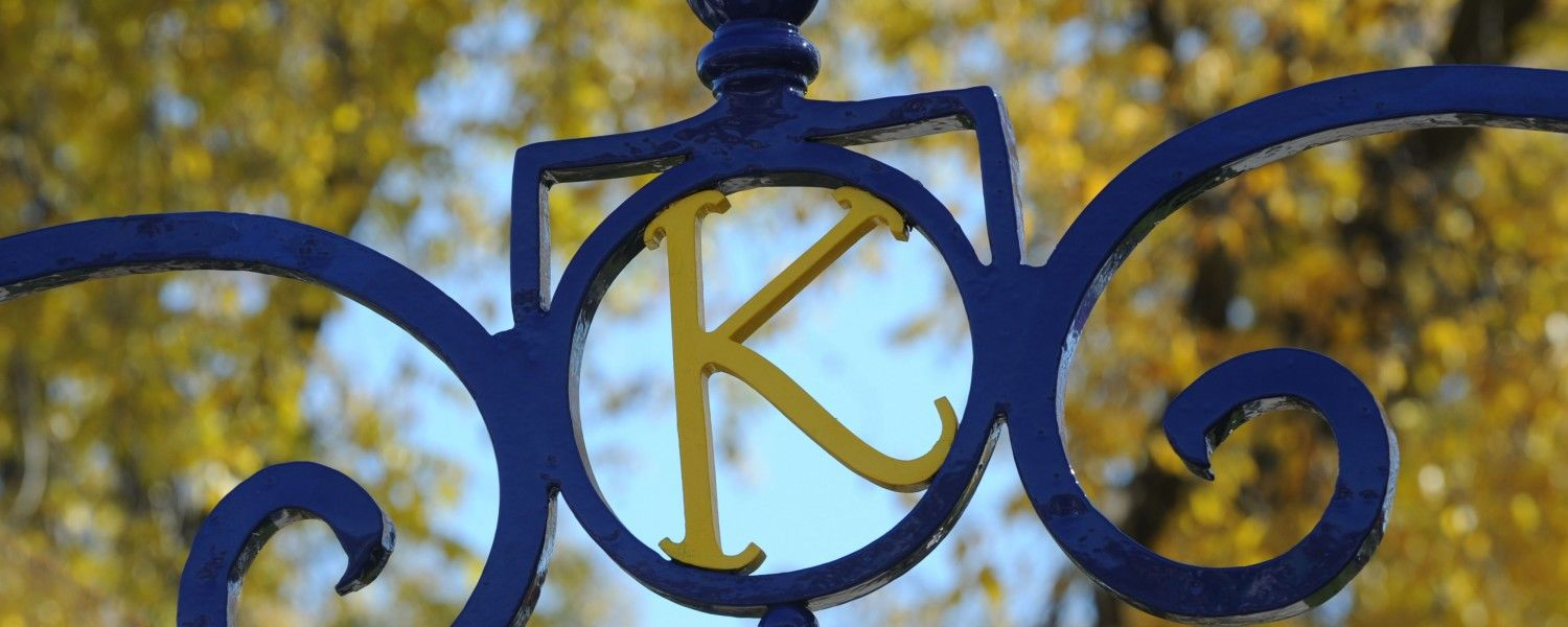 A K rests stop the Prentice Gate near Rockwell Hall