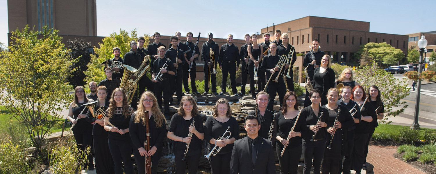 Wind Ensemble at the Kent State University Student Memorial Garden