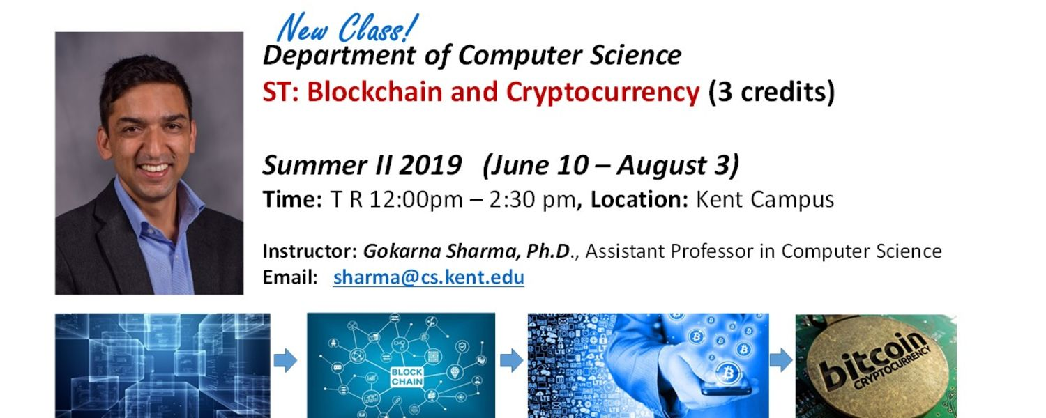 Blockchain and Cryptocurrency New Class from Dept. of Computer Science