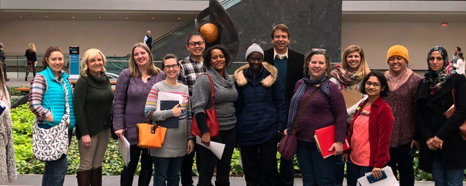 Curriculum and Instruction graduate students at the Cleveland Museum of Art