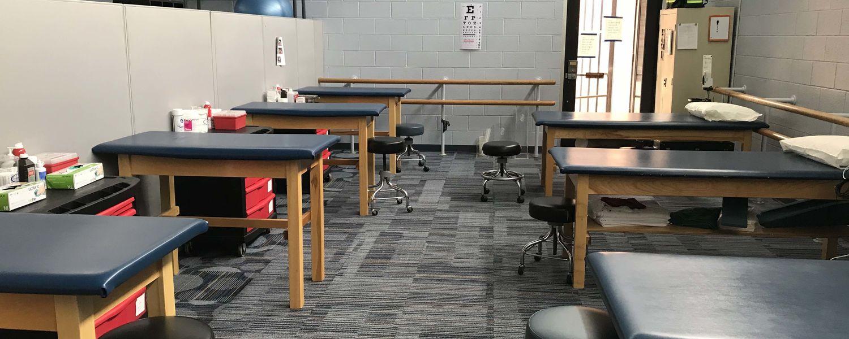 Athletic Training Comp Lab treatment area
