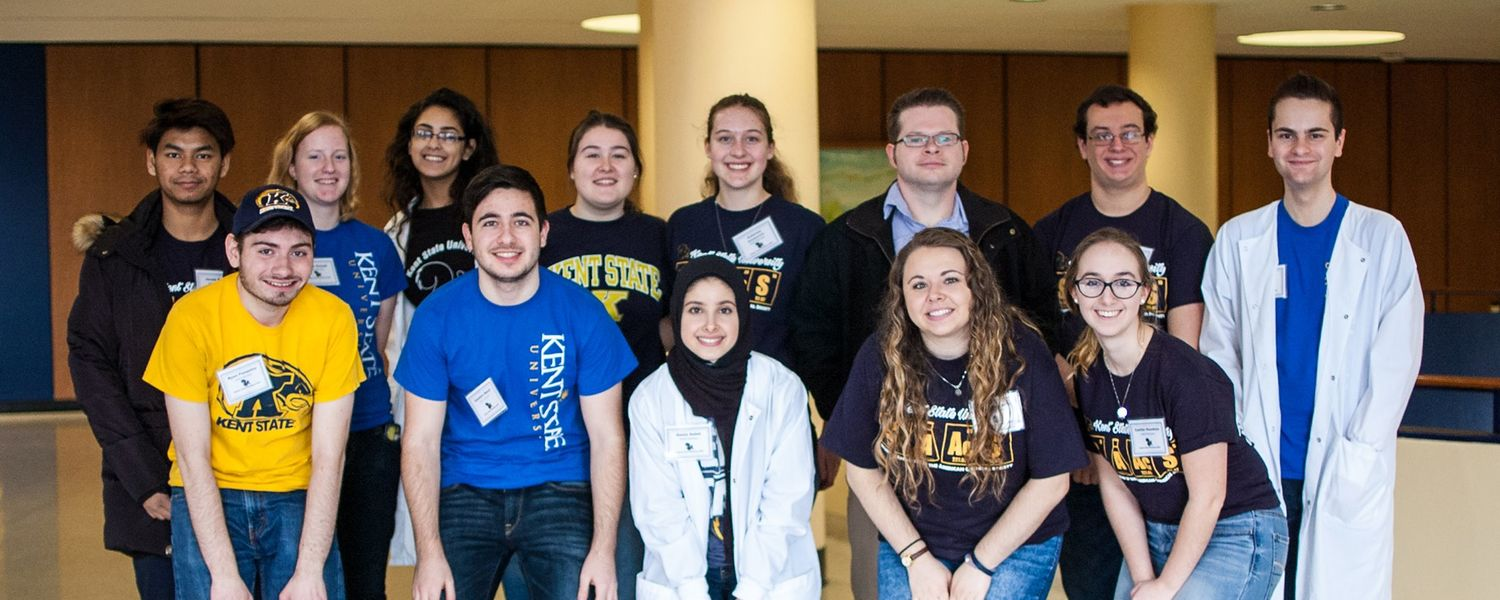 Members of the Student Affiliates of the American Chemical Society at Explore Kent Chemistry Day 2017.