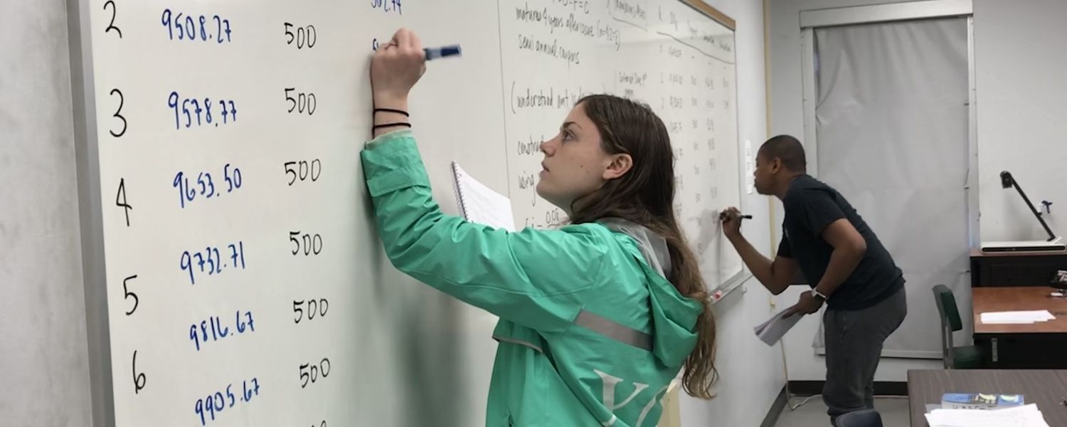 Mathematical Theory of Interest students at the board