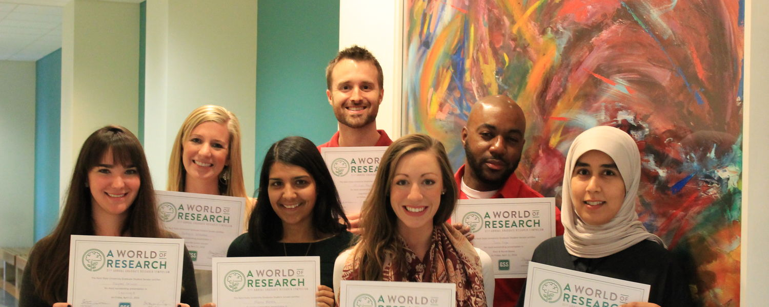 Congratulations to our students honored at the 2016 Graduate Research Symposium!