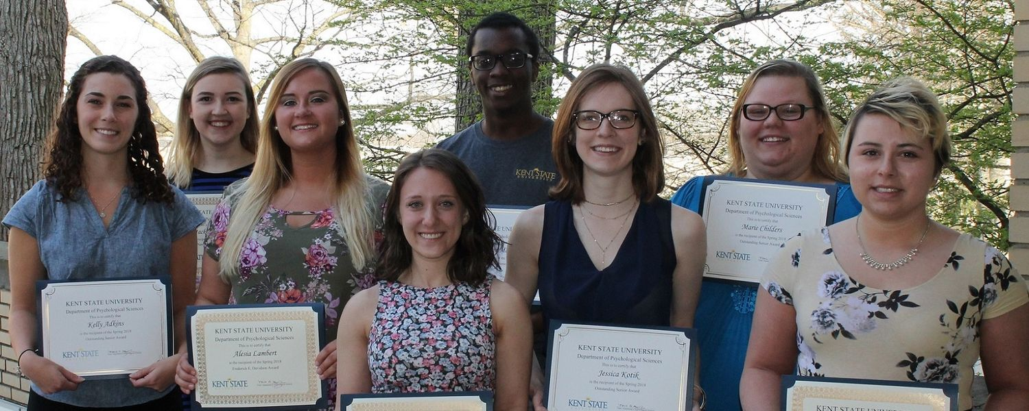 Congratulations to the Department of Psychological Sciences Undergraduate Award Winners!