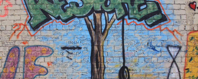 Graffiti on wall