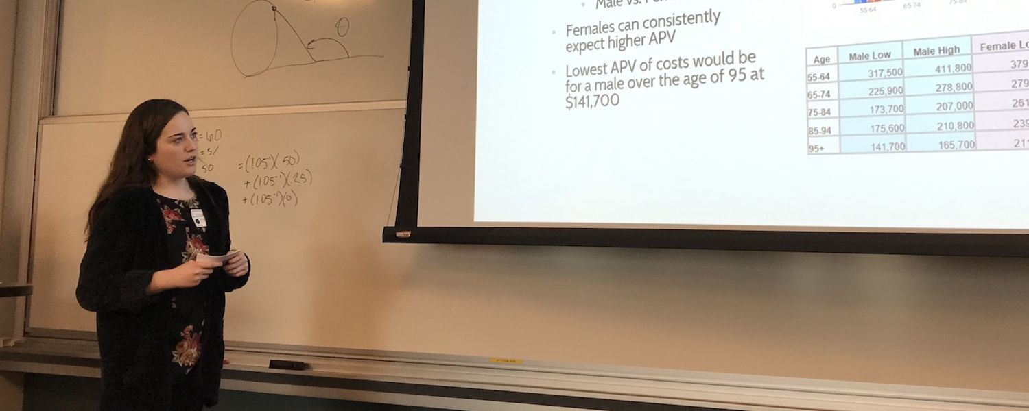 Actuarial Math student presents her research at YSU PME conference