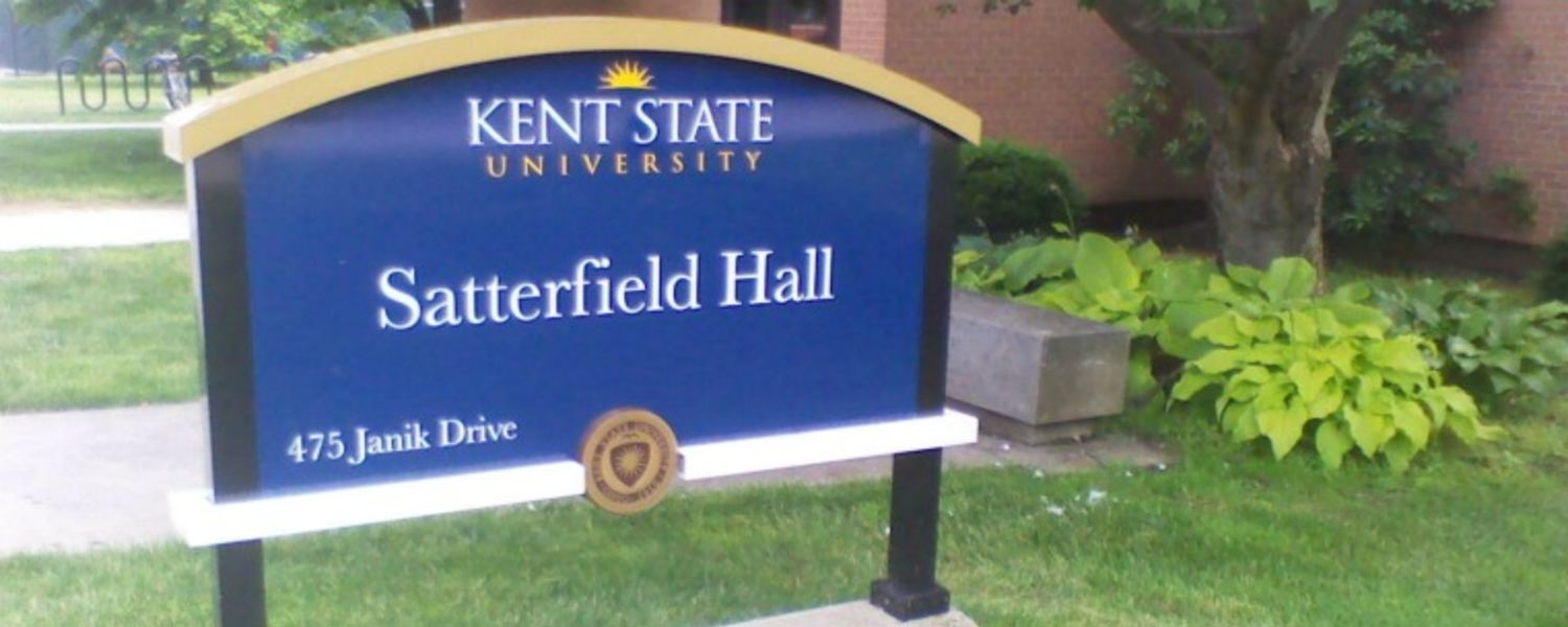 Satterfield Hall sign