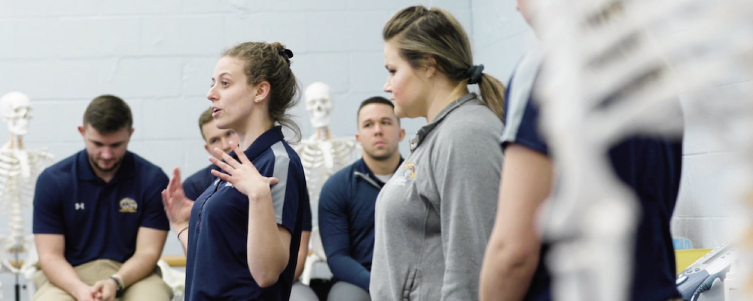 Athletic Training students in class