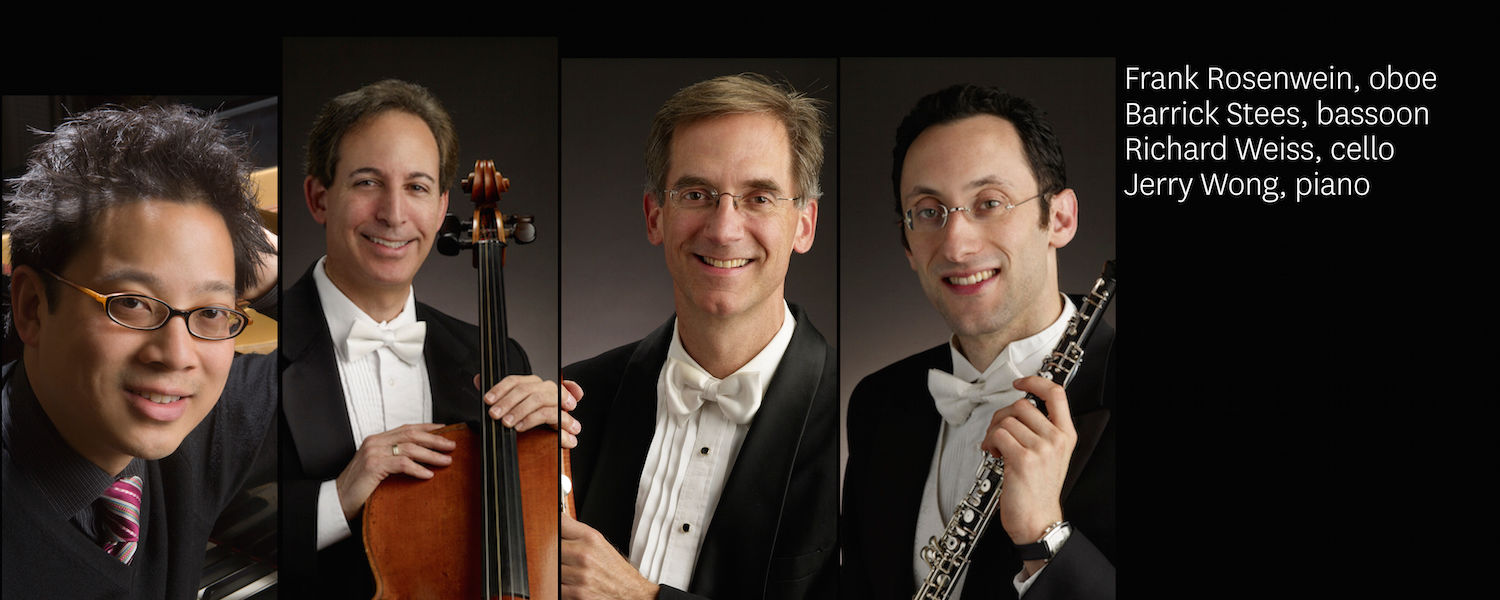 Faculty Concert Series - Concert 5 presenting Frank Rosenwein, oboe; Barrick Stees, bassoon; Richard Weiss, cello; Jerry Wong, piano