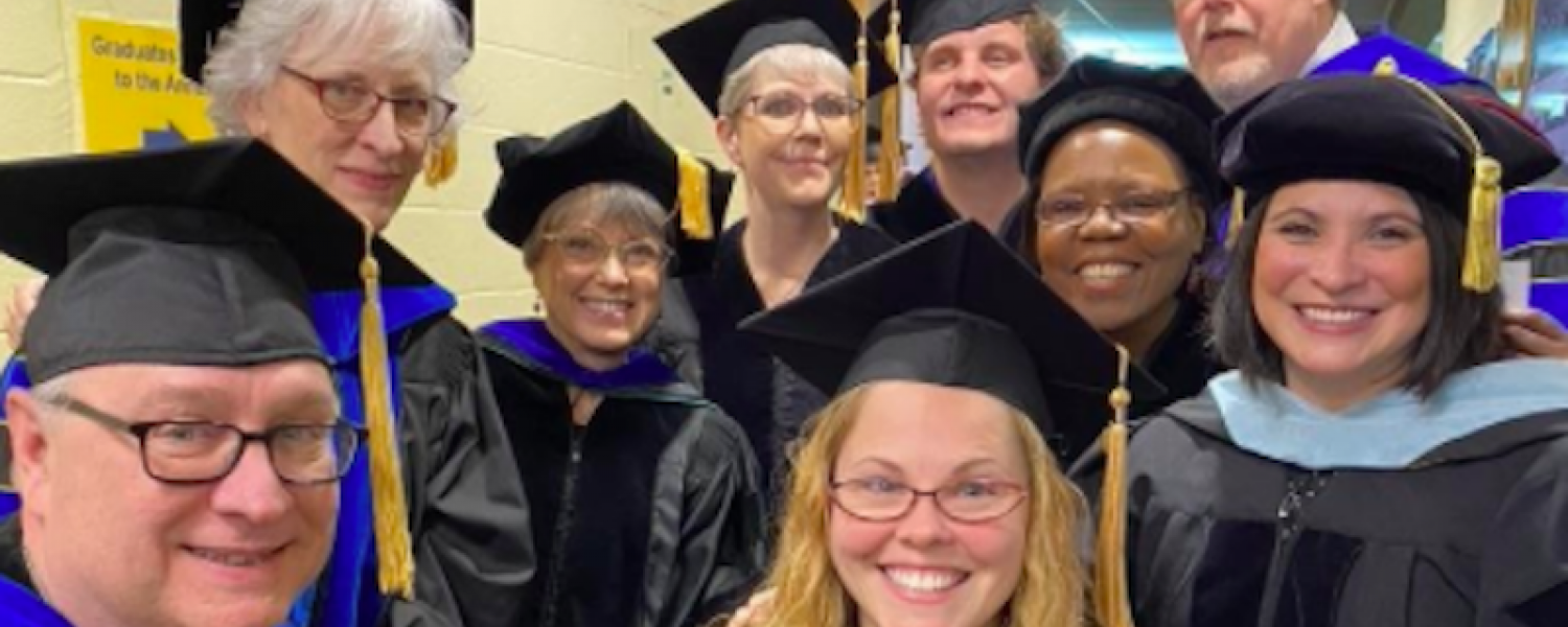 CES faculty at graduation.