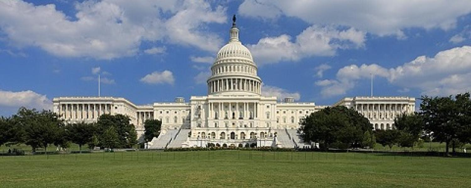 A picture of the U S Capitol.