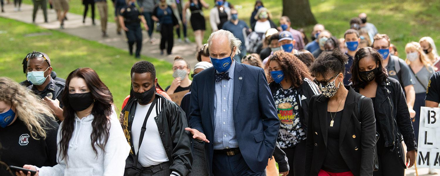 President Todd Diacon at the Black Lives Matter march.