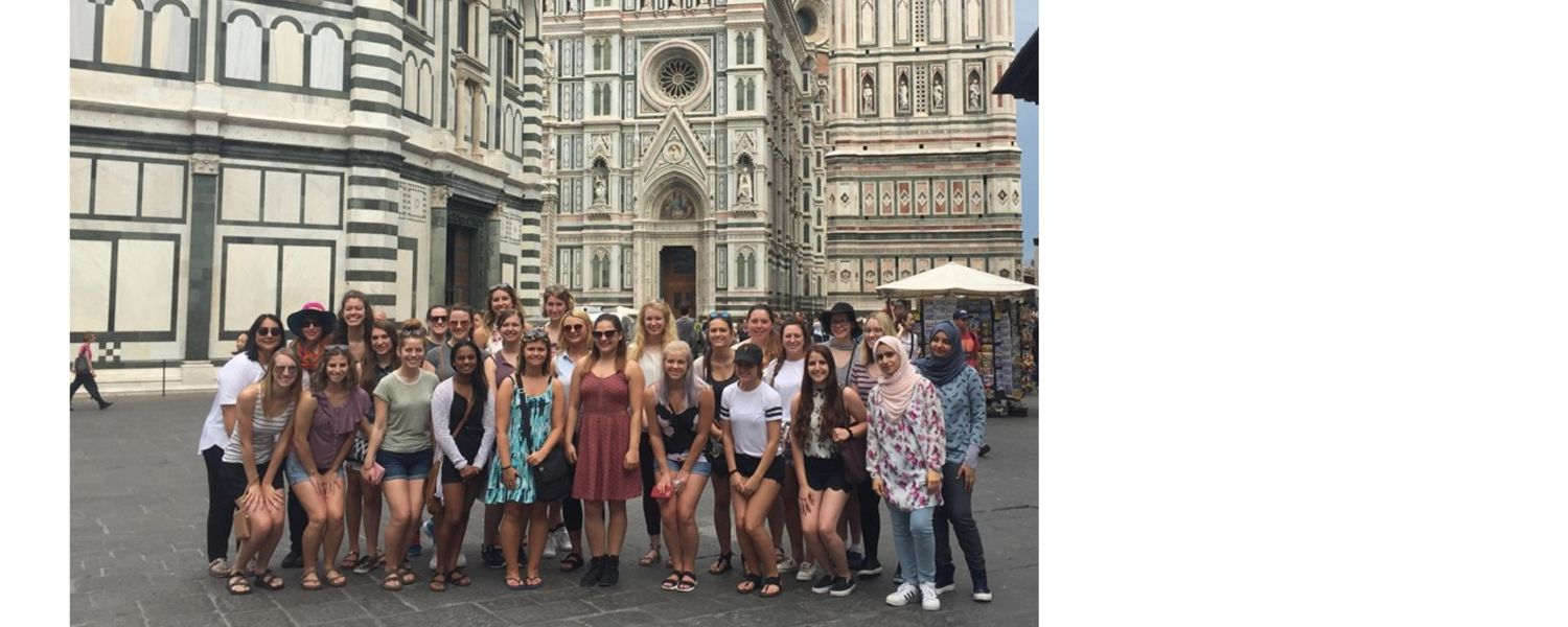 Students on Field Trip in Florence Italy