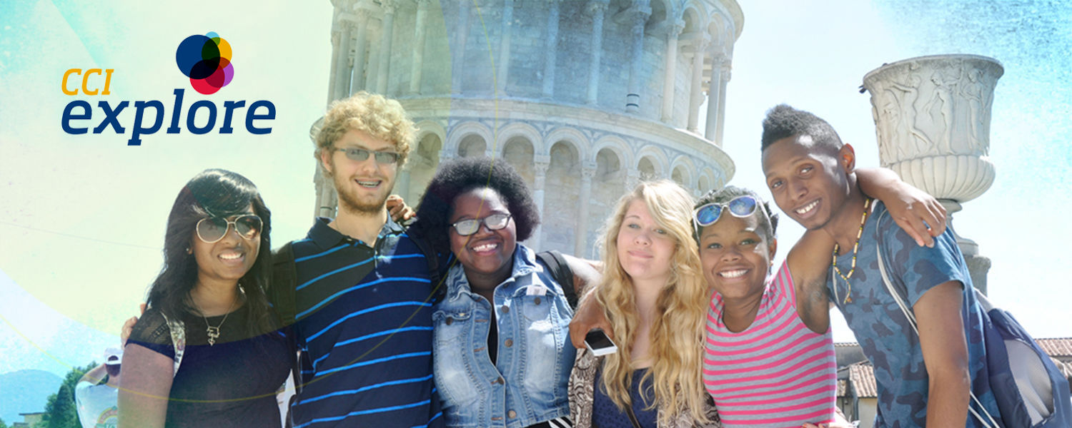CCI Explore - Group of students studying abroad
