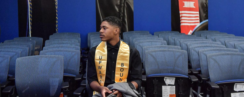 Upward Bound Student Grad Stole
