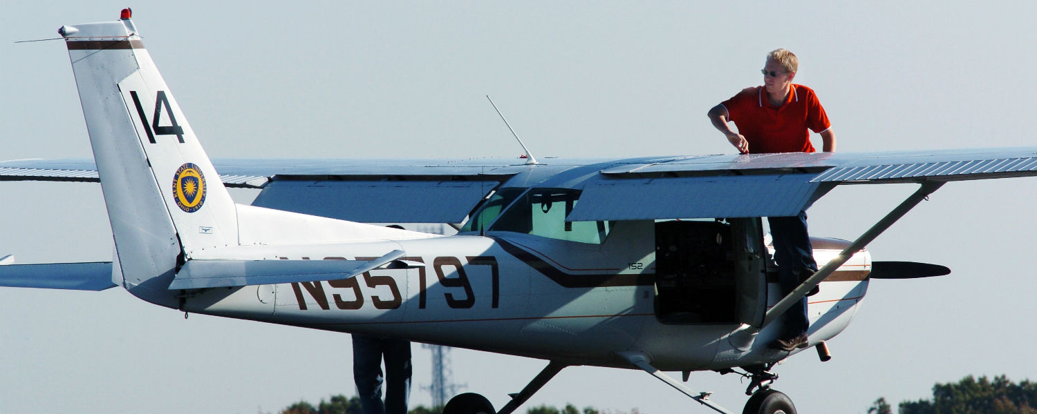 The Kent State Airport provides flight training for students in the Aeronautics program.