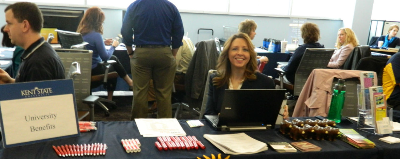 Dina Dusek at Open Enrollment Fair