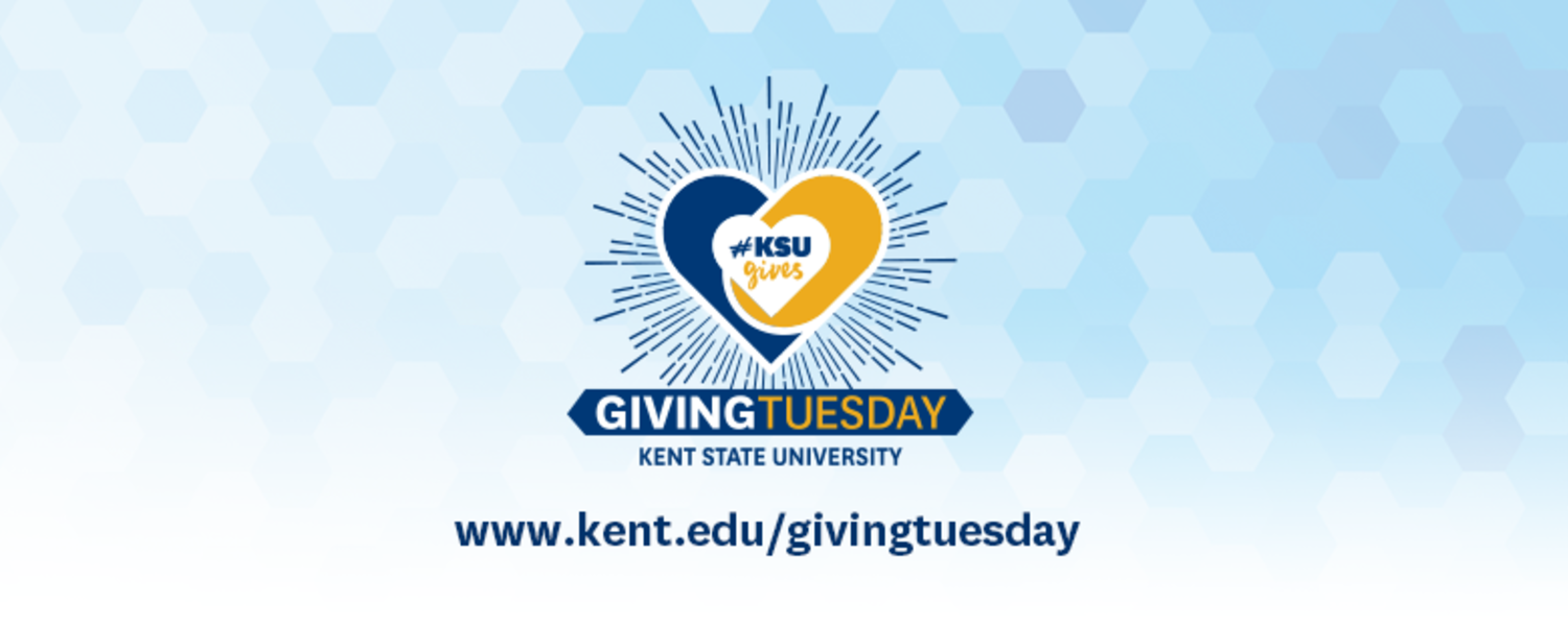 Kent State University Giving Tuesday logo with website