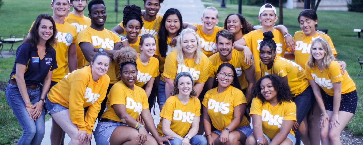 Gold Team students at Destination Kent State