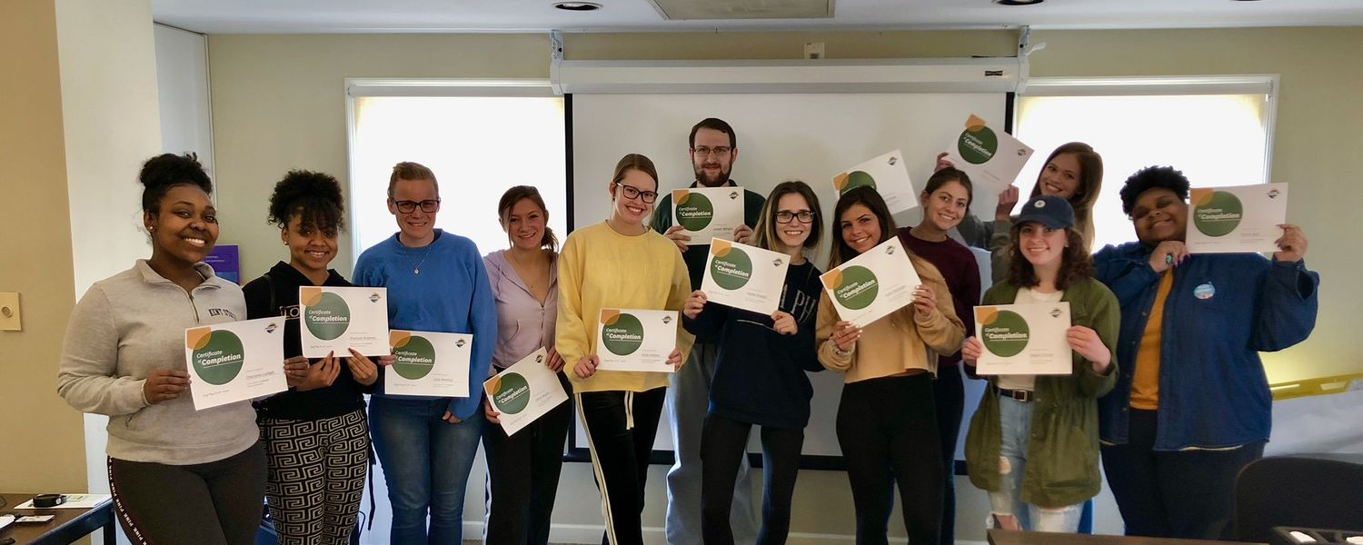 Group photo of 2019 Green Dot Trainees