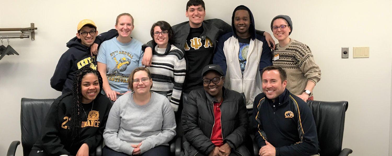 Spring 2019 LGBTQ interns group photo