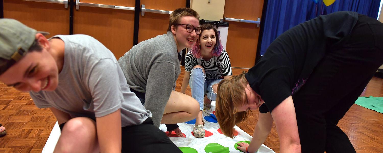 Students play games at LGBTQ kickoff