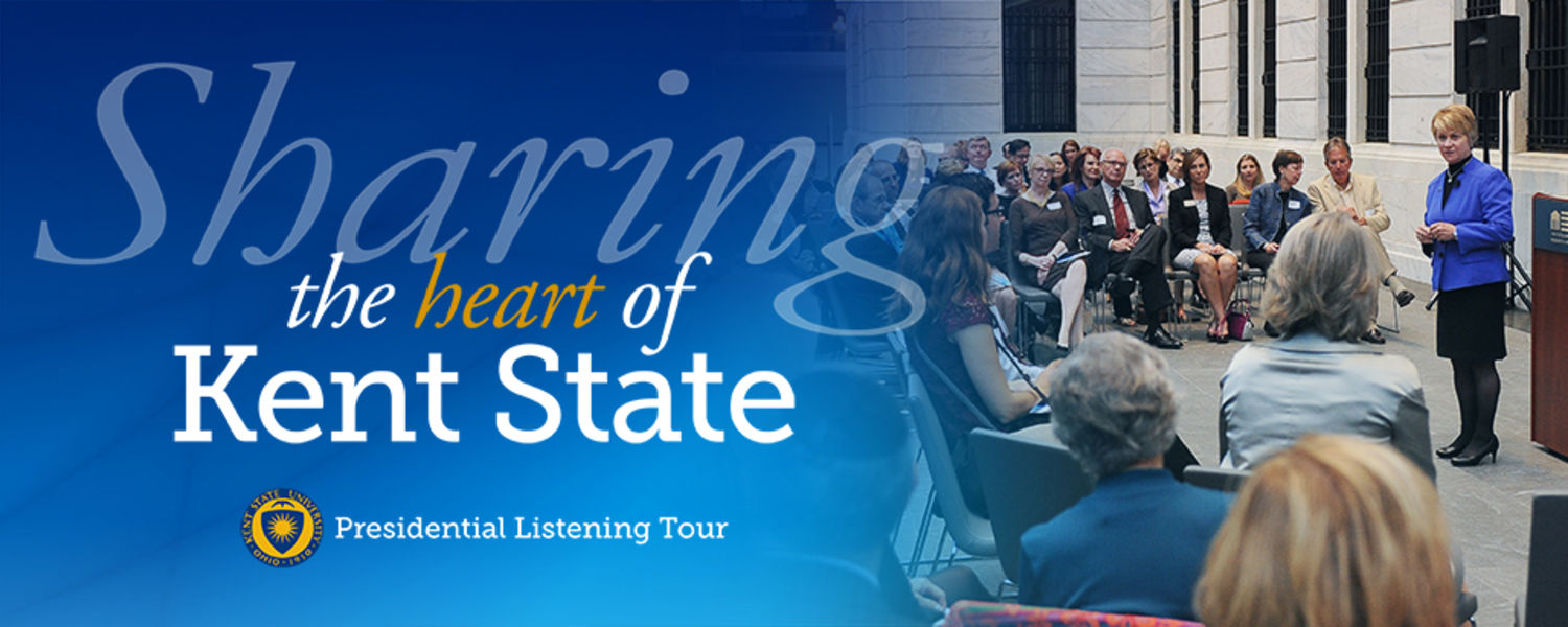 President Warren's Sharing the Heart of Kent State Event Announcement