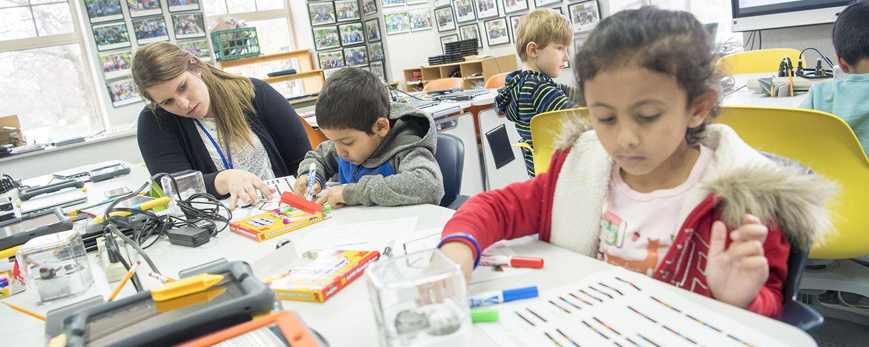 Children Participating in Classroom