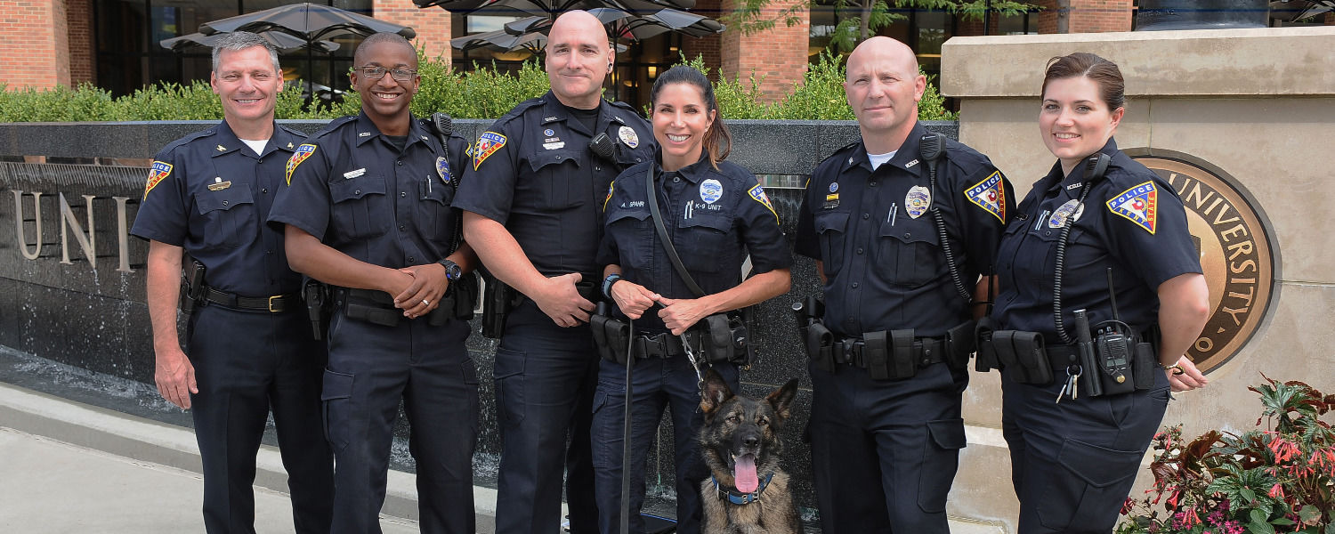 KSU Police Officers and K-9