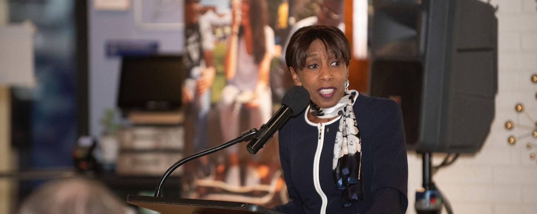 Alfreda Brown provides remarks for DEI Ten Year Celebration Kickoff