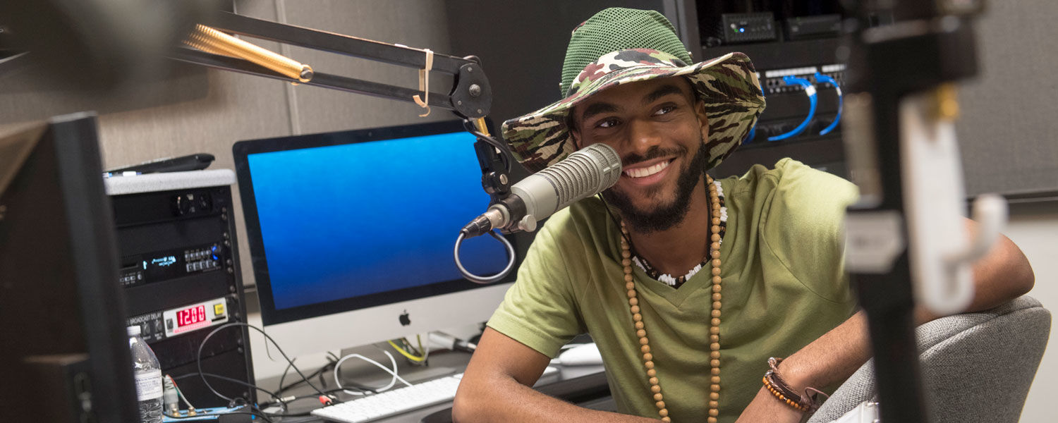 A Kent State student hosts a Black Squirrel Radio Show