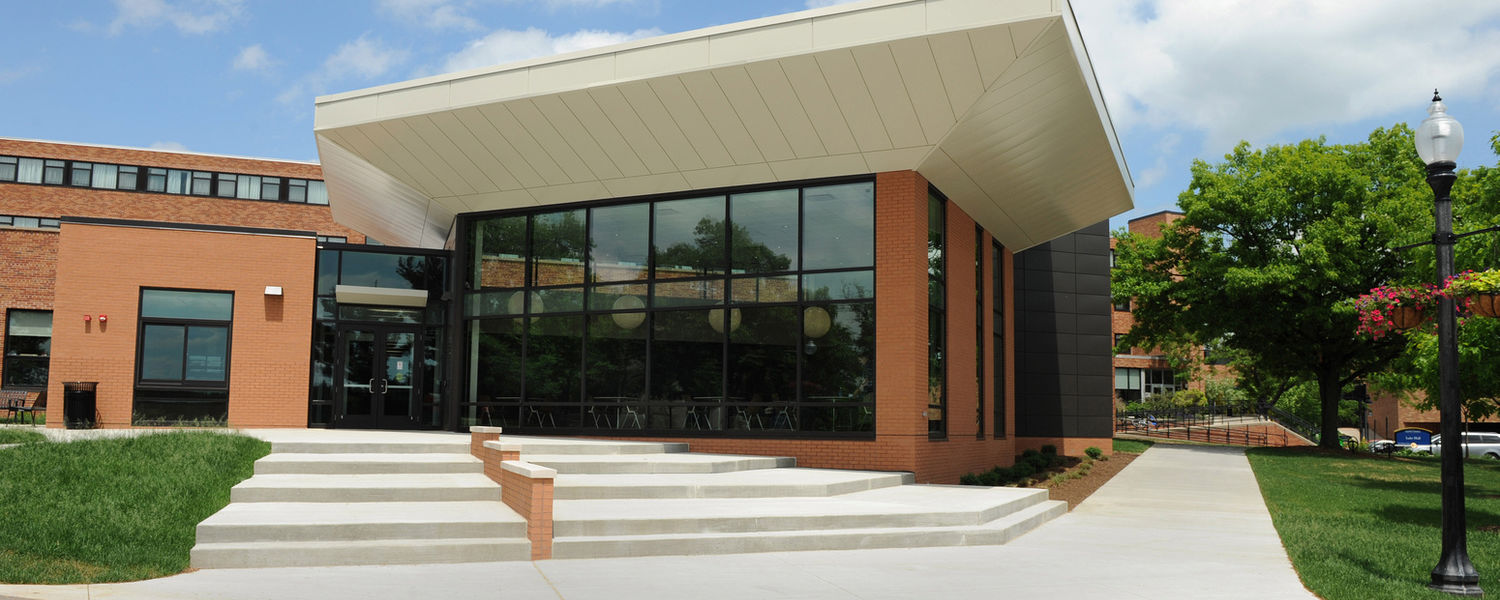 The newly built center for undergraduate excellence, located on the Lefton Esplanade