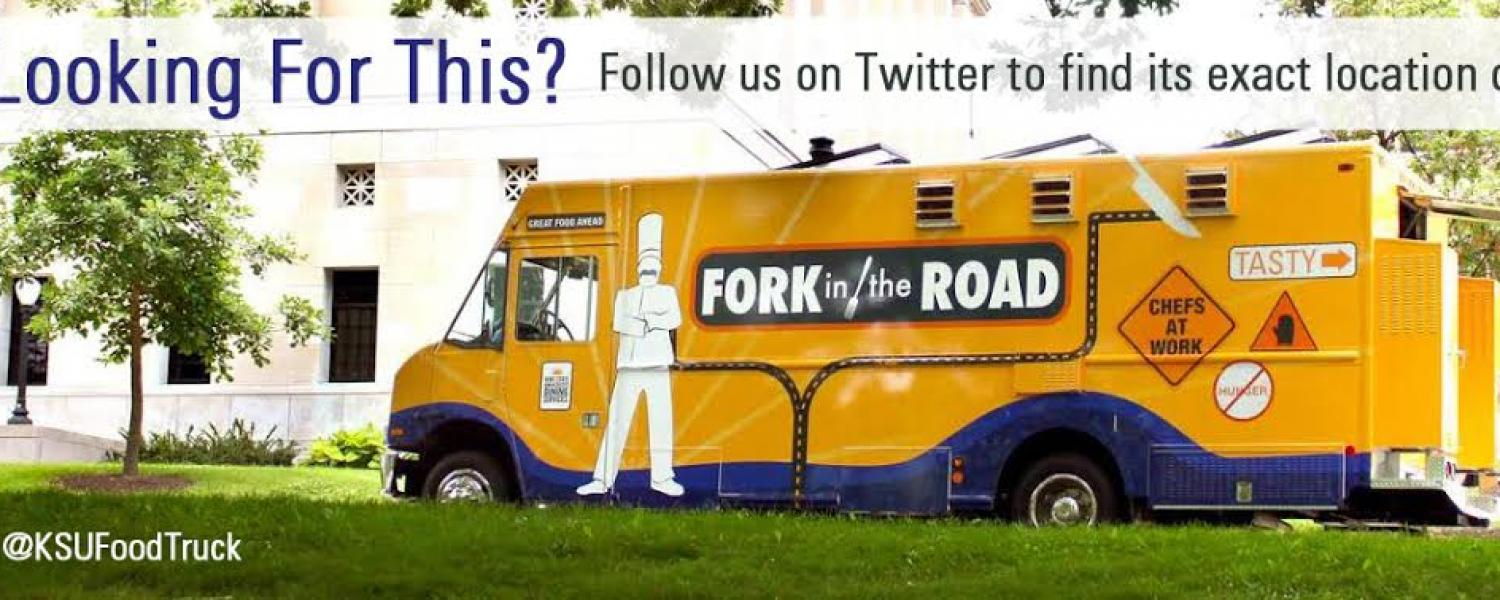 Looking for the Food Truck? Follow us on Twitter at KSUFoodTruck to find its exact location daily.